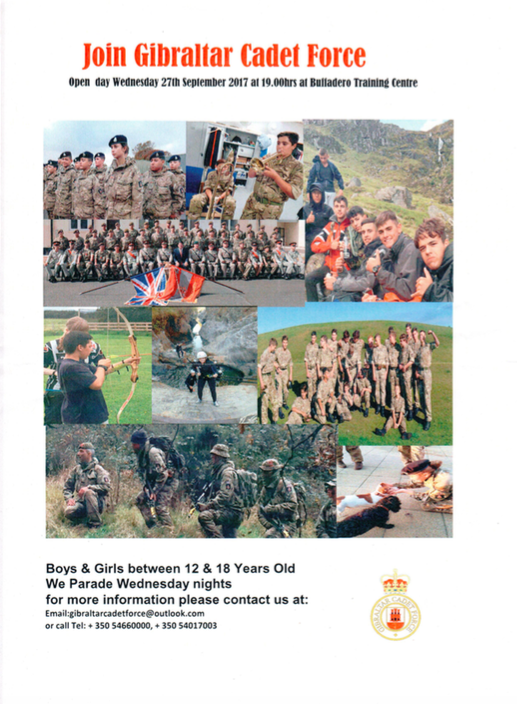 Sep 22 – Army Cadets Looking For Recruits - Your Gibraltar