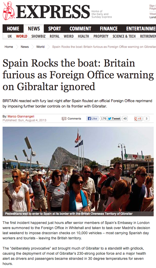 Gibraltar News - The Express Aug 04