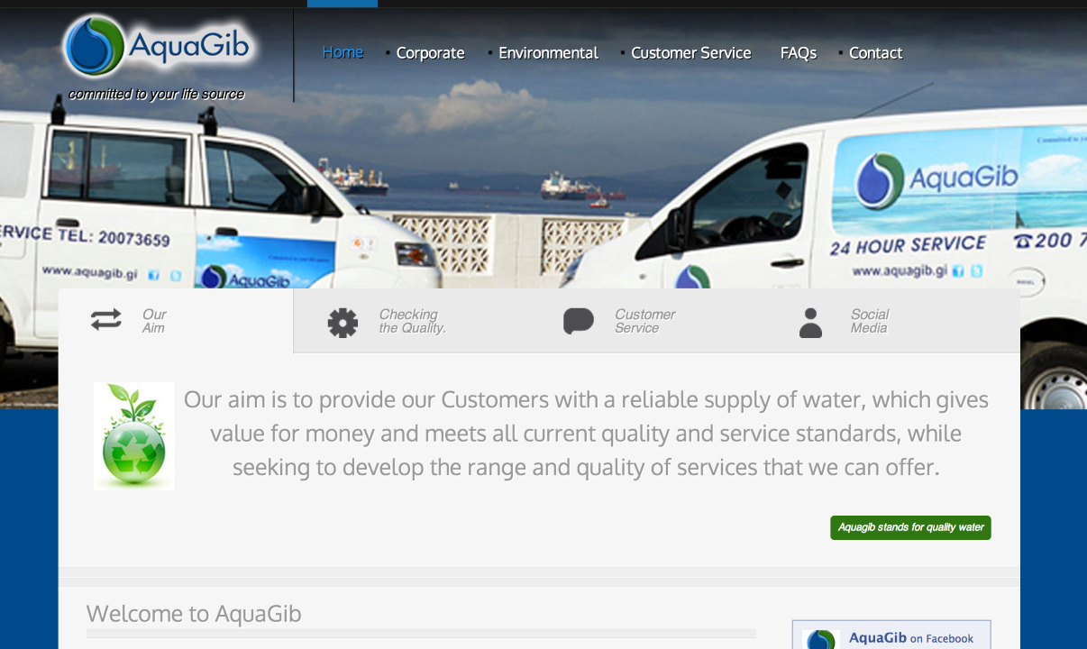 Aquagib New Website