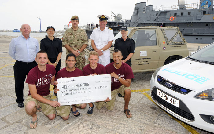 Help For Heroes Drive ends in Gibraltar