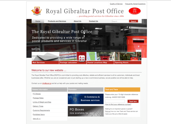 post office website